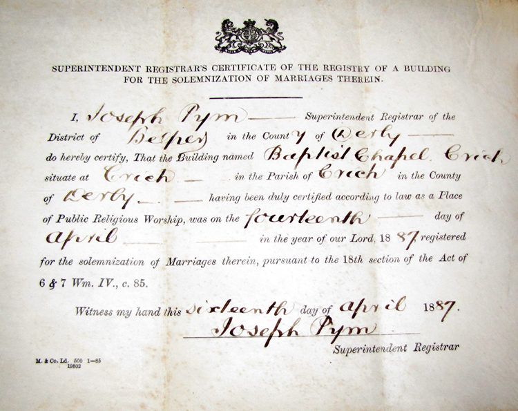 baptist marriage licence