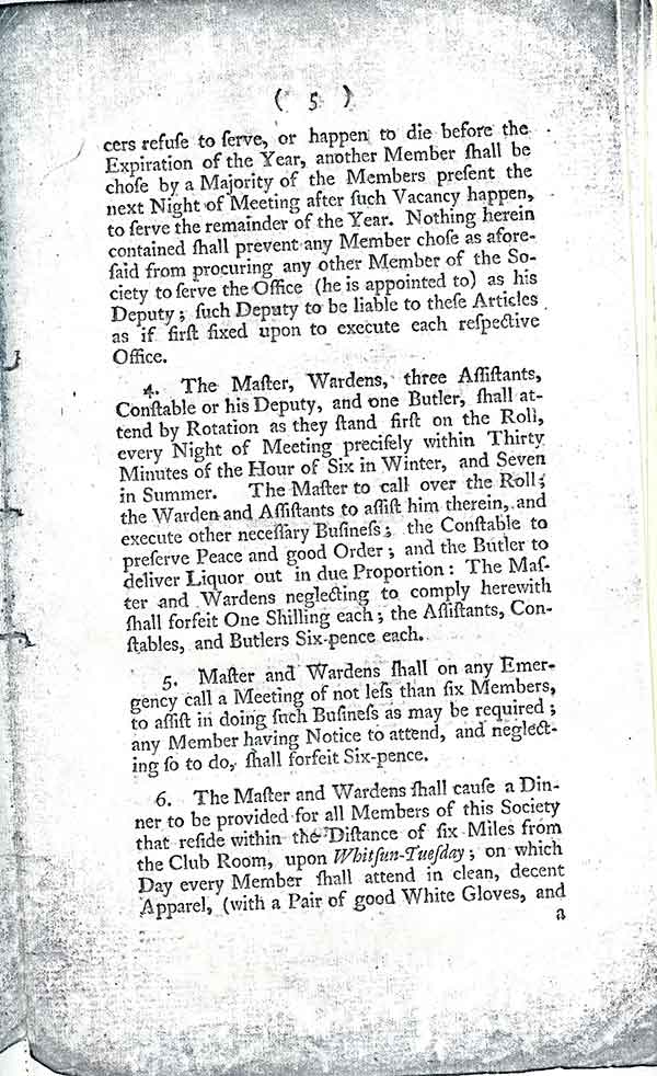 Friendley Soviety Rules 1794