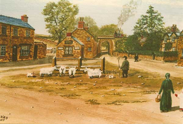 Herbert Key painting of Crich troughs