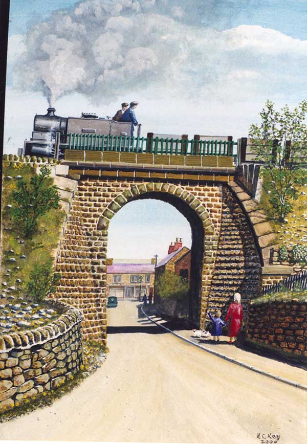 Herbert Key painting of Crich archway