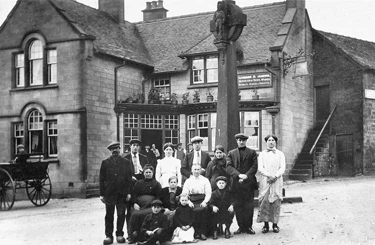 Photograph Crich Cross and Belgiam refugees in WW1