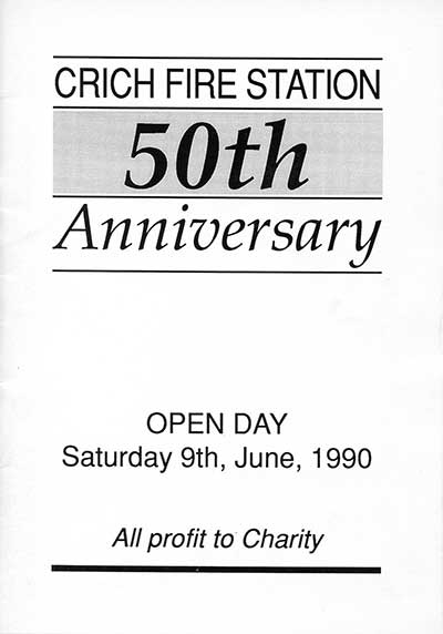 Fire Station Anniversary programme 1990