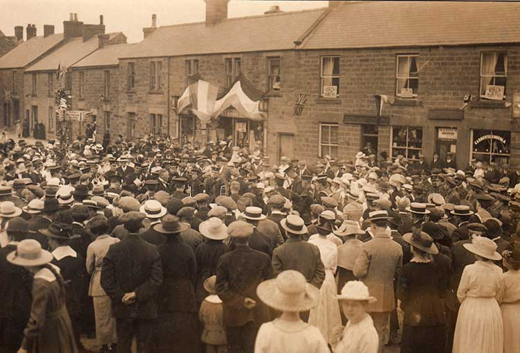 Crich peace celebrations 1918