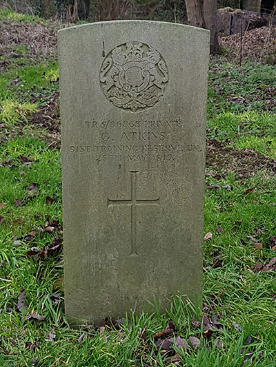 Gilbert Akins grave at Crich