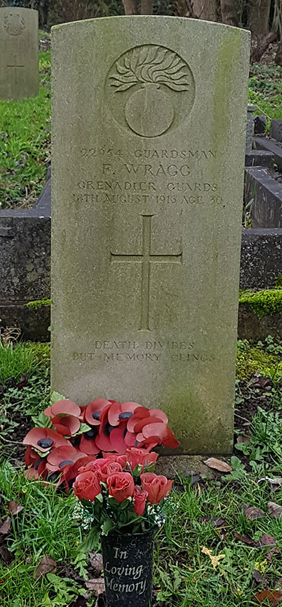 Fredericj Wragg grave at Crich