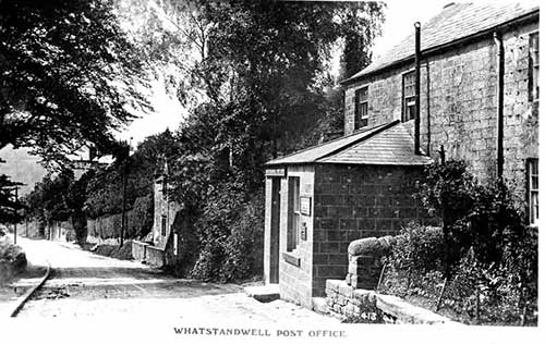 Postcard of the second Whatstandwell post office