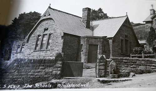 Old postcard of Crich Carr School