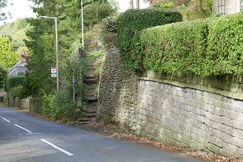 Steps to Middle Lane, Whatstandwell