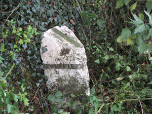 photo of boundary stone Lynam Lane