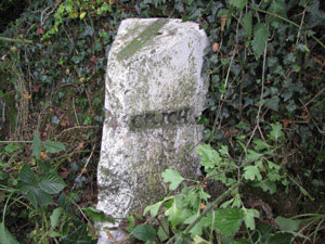 photo og boundary stone Lynam Lane