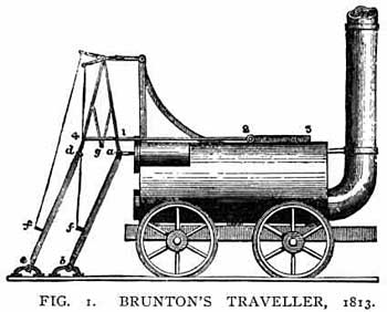 drawing of Brunton's lococmotive