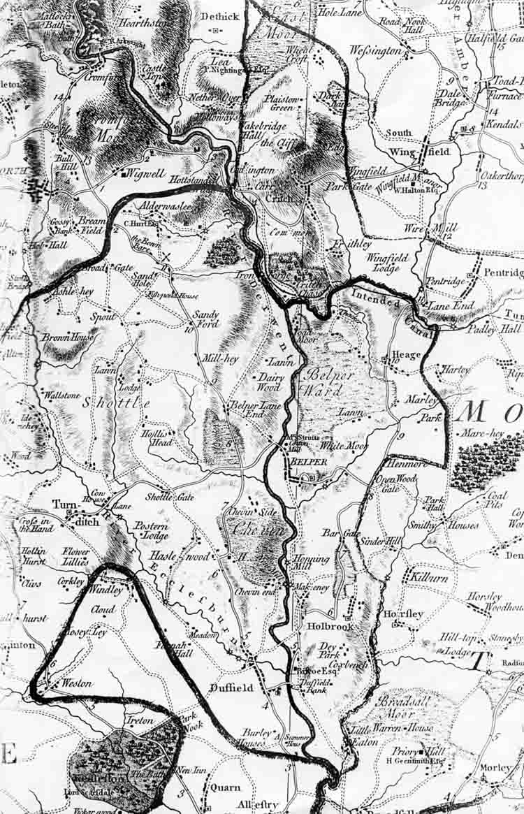 Burdett's Map of Crich
