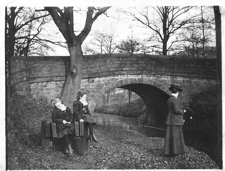 Ladies by the canal