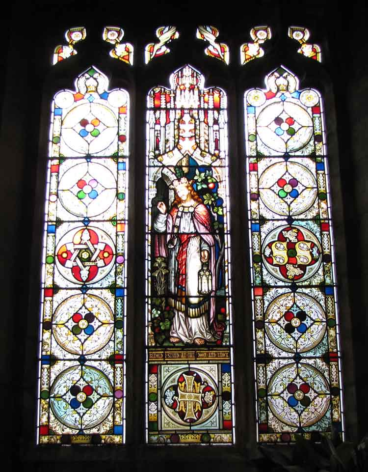 Stained window in Crich Church