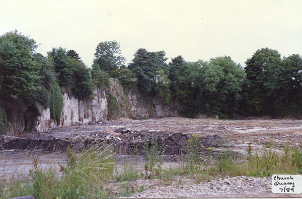 Church quarry at Crich