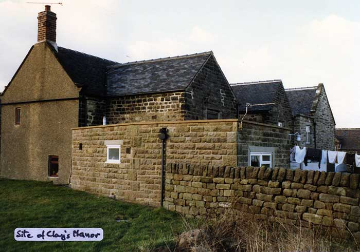 Site of Clay's manor Crich