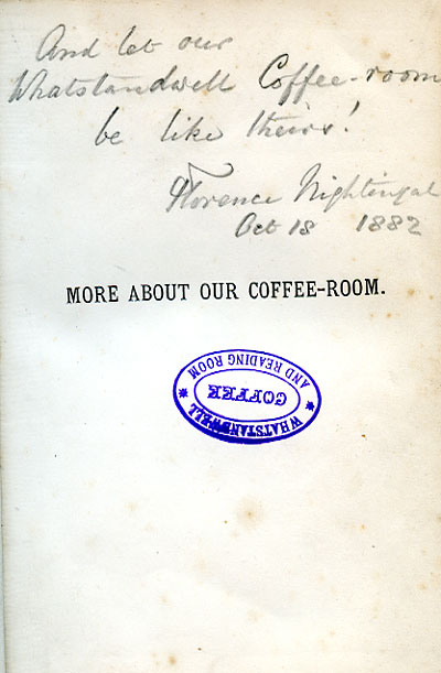 florence nightingale note in book