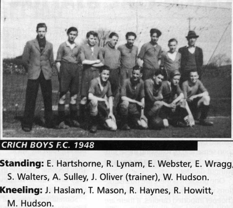 Crich Boys Football team 1948