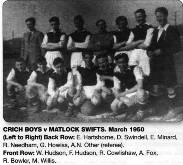 Crich boys football 1950