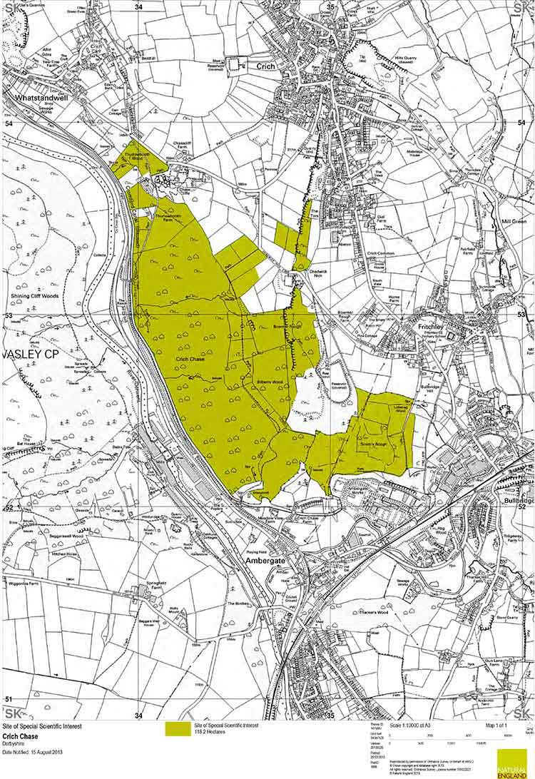 Crich Chase SSI map