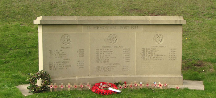 memorial wall at Crich Stand