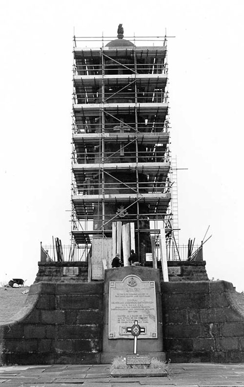 Repairs to Crich Stand 1997