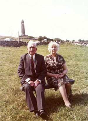 Ike Woolley and his wife at Crich stand