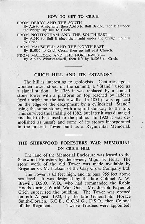1953 guide to Crich Stand