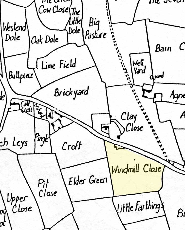 Map of Dodds windmill