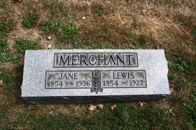grave of Jane Merchant