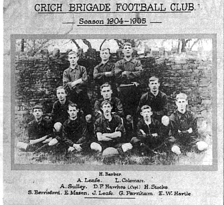 Crich football team 1904