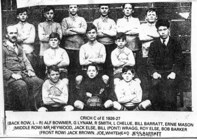 Crich school football team 1926