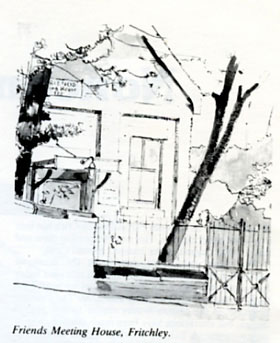 sketch of Friends Meeting House in Fritchley