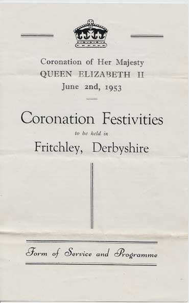 Fritchley Coronation page 1