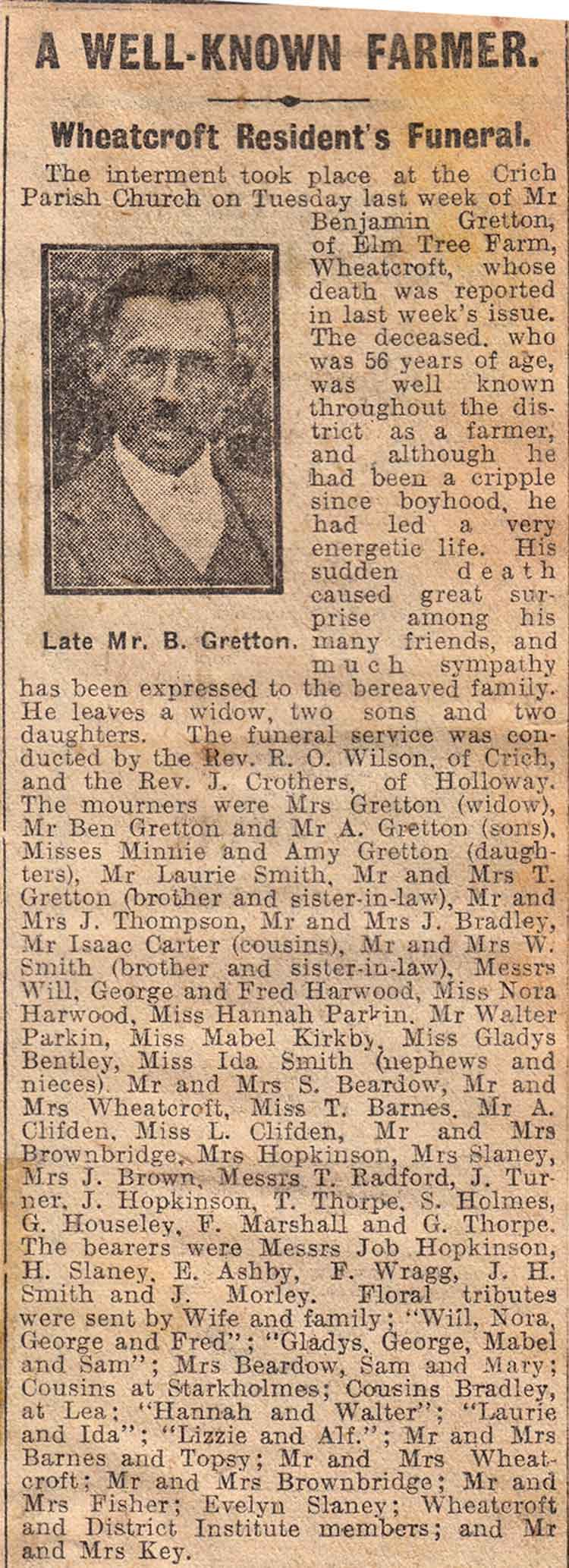 news clipping Wheatcroft