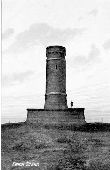 postcard of Crich Stand