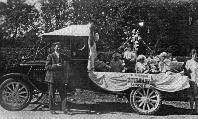 Infirmary float at Crich