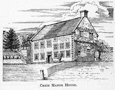 drawing of Crich Manor House