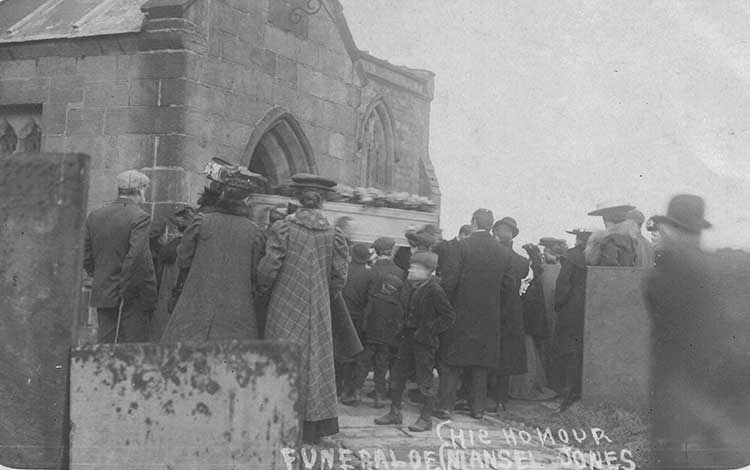 Funeral of mansel Jones at Crich