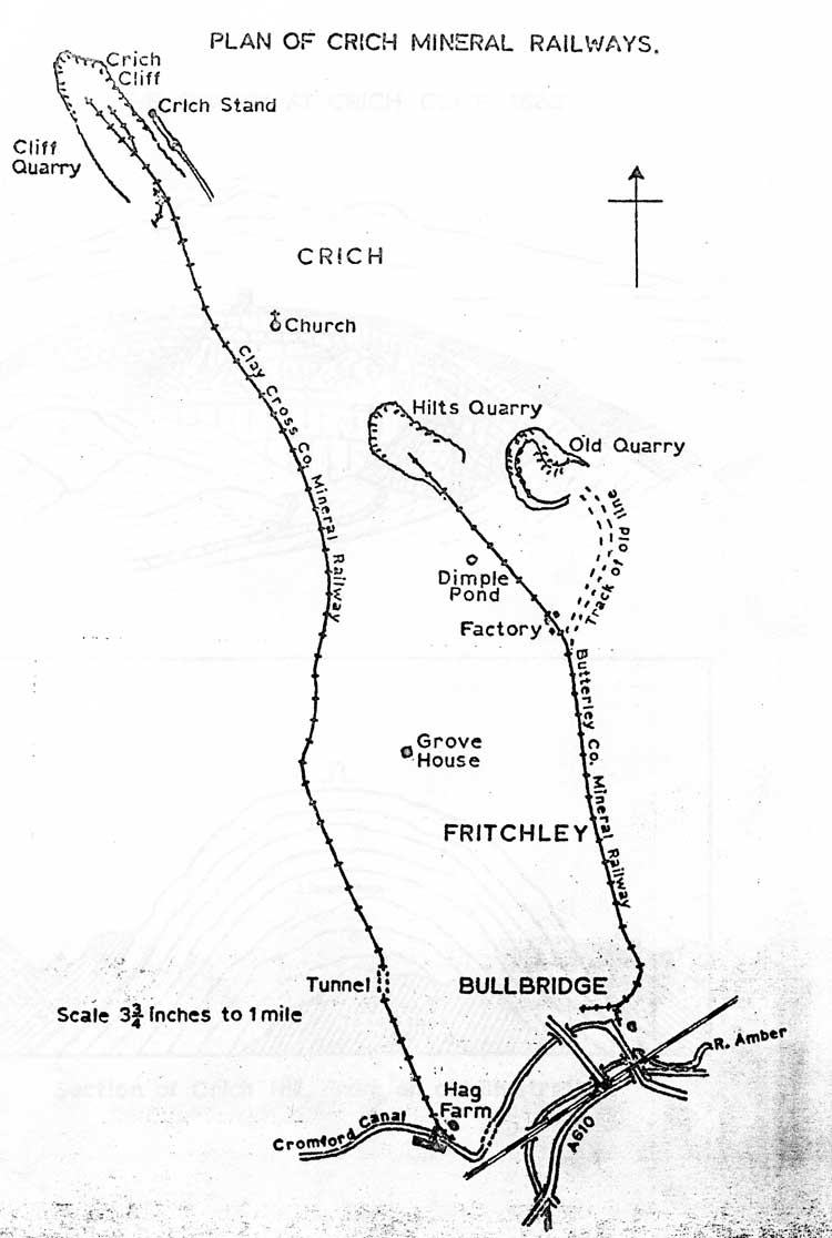 map of mineral railway