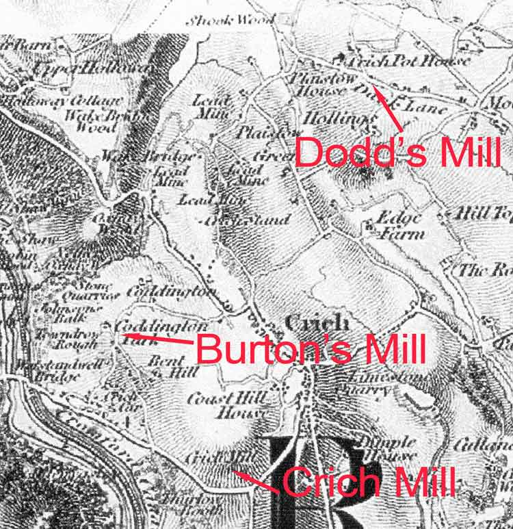 sites of Crich Mills