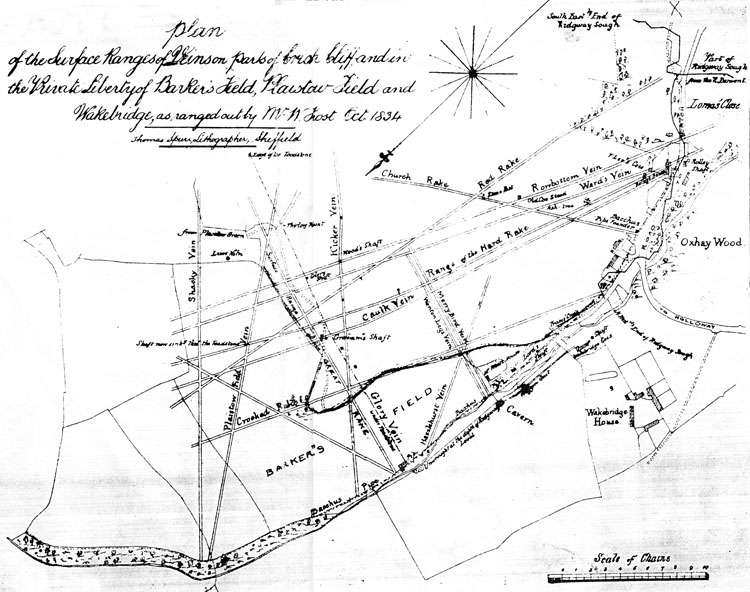 mining map of 1834