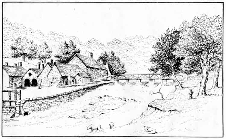sketch of Oakhurst House