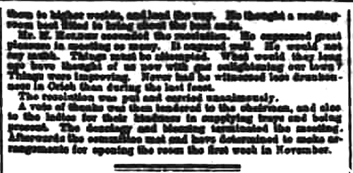 Derbyshire Advertiser and Journal 19 October 1866 OPENING OF A READING ROOM AT CRICH [there followed a long report of a Reading Room at Crich, the end of which is of poor definition.] Opening og Crich Reading Rooms 1866