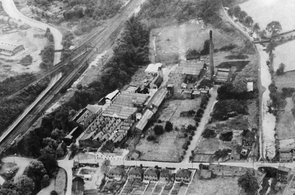 Aerial view of Stevenon Dye Works