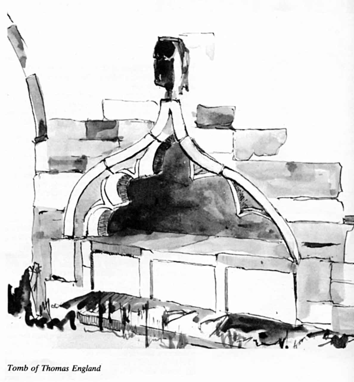 drawing of tomb of Thomas England