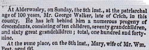 Obituary George Walker 1848