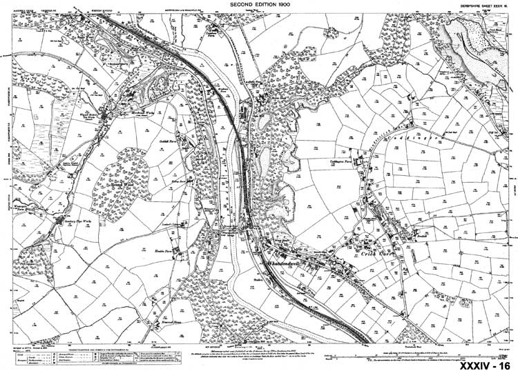 map of Whatstandwell 1900
