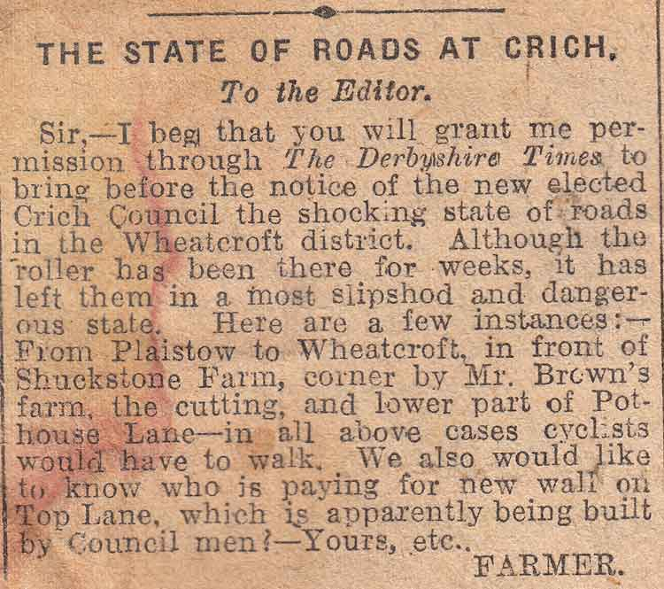 news clipping of Wheatcroft