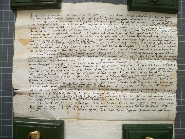 Will of Agnes Radford 1550